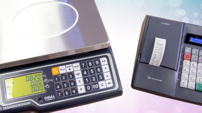 Waga elektroniczna Dibal G-310 i kasa fiskalna Novitus Lupo